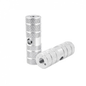 Como Children's Silvery Two Aluminium Alloy 0.9cm Axle Foot Pegs for BMX Bicycle Bike