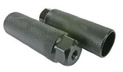 """Black Ops Lead Foot Steel Axle BMX Pegs 33mm x 3/8"""" x 26T Black"""