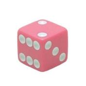Trik Topz Dice Valve Caps Pair Pink