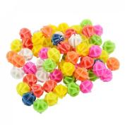 Como Bike Bicycle Spoke Colourful 1.4cm Dia Plastic Beads Decor 94 Pcs