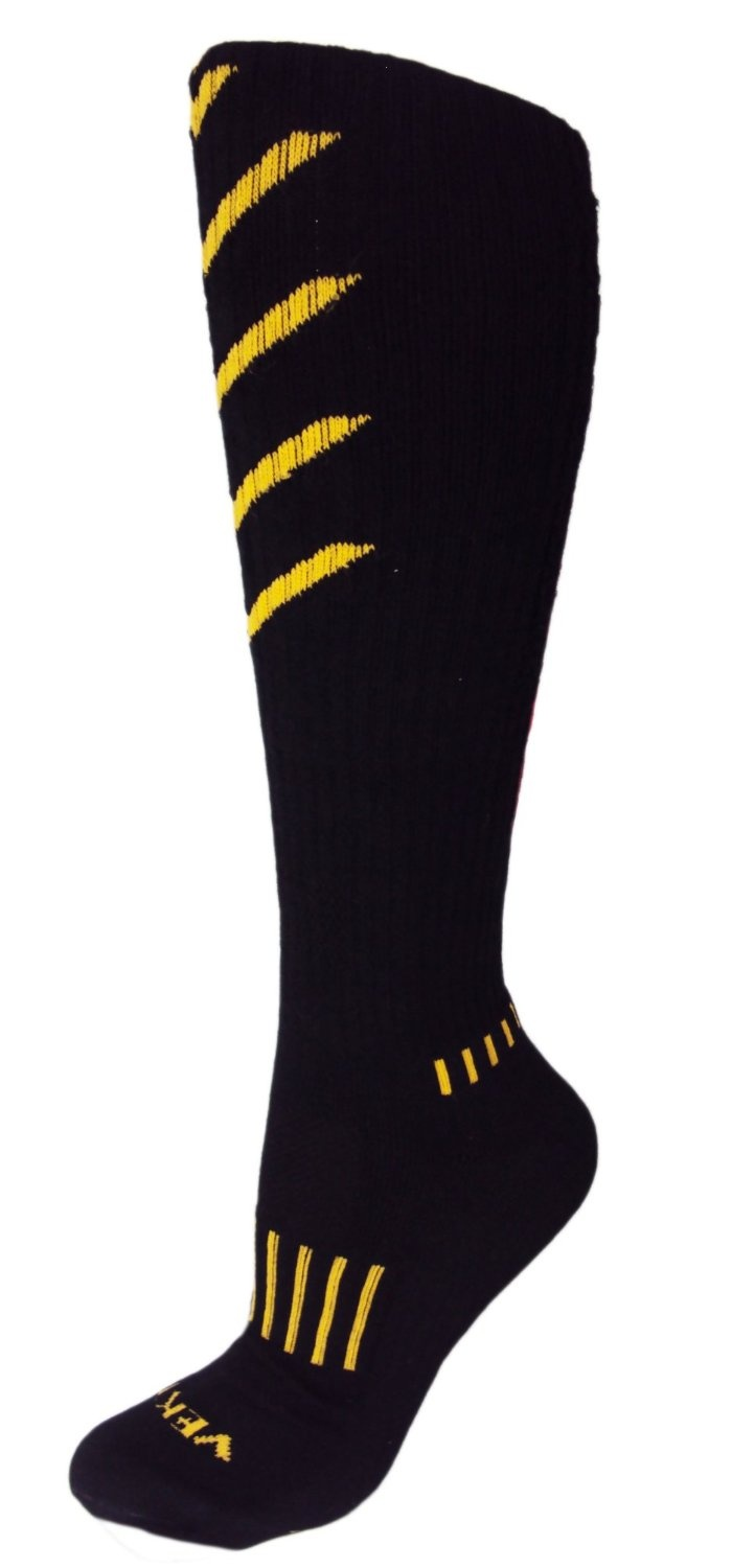 edd9082058b MOXY Socks Knee-High Black with Gold and Blood Red Ultimate VEKTR ...