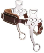 Kelly Silver Star Fleece Lined Hackamore - Assorted Chrome Plated - Horse