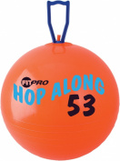 Champion Sports FitPro Pon Pon Hop-Along Ball, 50cm , Red