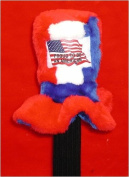 Uncle Sam's Hat Red White and Blue with American Flag and Proud To Be American Head Cover Junior Size 5-7