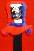 Uncle Sam's Hat Red White and Blue with Eagle Stars and USA JUMBO Size