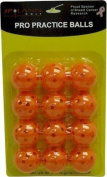 Orange Perforated Practise Golf Balls Available in 12, 24, 60, 120 or 240 count