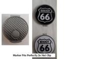 Shoot 66 Golf Ball Marker w/ Silver Hat Clip