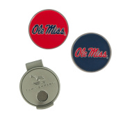 NCAA Ole Miss Rebels Hat Clip and 2 Golf Ball Markers