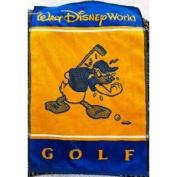 Walt Disney World Donald Duck Yellow Blue Golf Towel