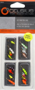 Celsius Panfish Asst, 16 Ice Jigs, Assorted Multi-Coloured