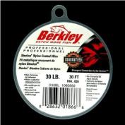 Berkley D30BL Steelon Nylon Coated Wire with 14kg Line Test, Black, 9.1m