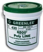 Greenlee 37959 Poly Fish Line, Red Tracer, 2200'
