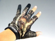 1Pair Gloves 3 Finger Fishing Hunting Jungle Camouflage Camo Fishing Gloves