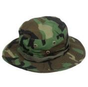 Fishing Hunting Army Marine Bucket Jungle Cotton Military Boonie Hat Cap Woodland Camo