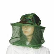 Como Fishing Camouflage Cap Mesh Net Hood Sun Nylon Hat Army Green
