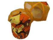 Orange Camouflage Trucker Mesh Hat Snapback Style Camo Cap
