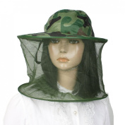 Como Mesh Camouflage Pattern 2 Layers Foldable Hat Cap for Fishing