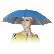 Como Blue Elastic Headband Handsfree Umbrella Hat Headwear for Fishing