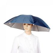 Como Navy Blue Stretchy Headband Handsfree Umbrella Hat Headwear for Fishing