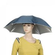 Como Portable Fishing Sun Protective Navy Blue Umbrella Hat for Fishing