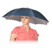 Como Black Elastic Headband Hands Free Polyester Shell Fishing Umbrella Hat