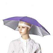 Como Outdoor Fishing Sports Polyester Umbrella Hat Purple