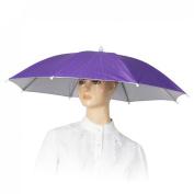 Como Outdoor Fishing Camping Purple Umbrella Hat Headwear Cap