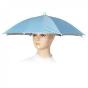 Como Outdoor Fishing Camping Blue Umbrella Hat Headwear Cap
