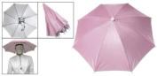 Como Pink Nylon Headwear Umbrella Hat for Golf Fishing Camping