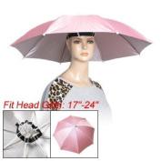 Como Water Resistant Handfree Light Pink Rain Umbrella Hat
