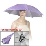 Como Outdoor Sports Fishing Umbrella Hat Headwear Light Purple
