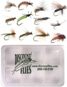 Caddis Fly Collection - 12 Trout Flies + Fly Box