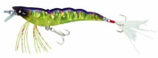 Yo-Zuri Crystal 3D Shrimp Slow Sinking Lure, Holographic Ultra Violet Chartreuse Purple, 8.9cm