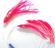 Daisy Chain Bait Rig Pink Saltwater Fishing Lure for Tuna Marlin Sails