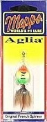 Mepps Aglia Dressed Treble Fishing Lure, 1/240ml, Hot Fire Tiger/Brown Tail