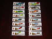 Lot of 16 NIB Weighted Soft Plastic Paddle Tail Bass Trout Fishing Lures w/ Hooks