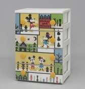 Character drawers K Mickey NF 4 drawers