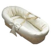 Waffle Pique Baby Moses Basket - White