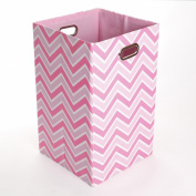 GiggleDots Rose Zig Zag Canvas Folding Laundry Bin