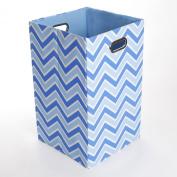 GiggleDots Sky Zig Zag Canvas Folding Laundry Bin
