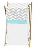 Baby/Kids Clothes Laundry Hamper for Turquoise and Grey Chevron Zig Zag Bedding by Sweet Jojo Designs