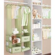 Delta - 24-Piece Nursery Closet Organiser, Hush Green