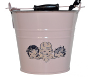 Vintage-style Pink French Girls Baby Bucket