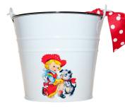 Retro White Cowgirl Baby Bucket