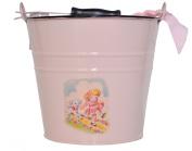 Vintage-style Pink Nursery Rhyme Baby Bucket