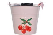 Retro Cherries Pink Baby Bucket