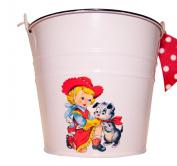 Retro Pink Cowgirl Baby Bucket