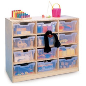 Whitney Brothers Birch Laminate Storage Cabinet, 12 Tray