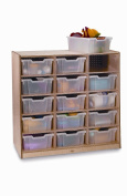 Whitney Brothers Birch Laminate Storage Cabinet, 15 Tray
