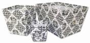 Versailles Black & White 3 Pc. Storage Bins